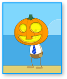 Get a pumpkin head in poptropica