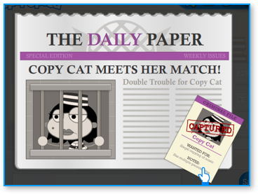 Captured Copy Cat in Poptropica Super Power Island