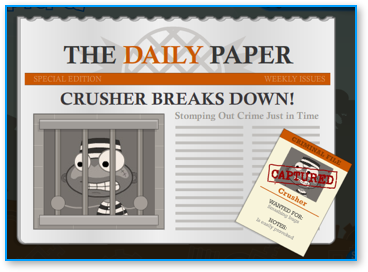 Captured Crusher in Poptropica Super Power Island