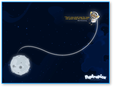 Post image for New Poptropica Wallpaper for Moon Landing