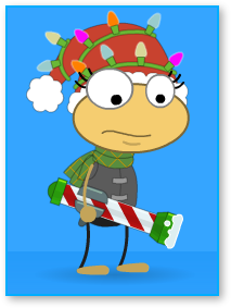 Ferb Outfit with Snow Cannon