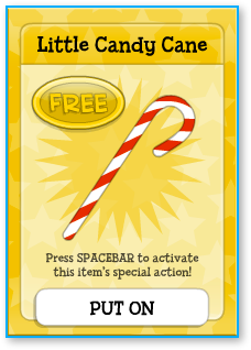 The little candy cane is free for everyone