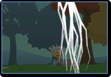 Poptropica Lightning Staff Storm