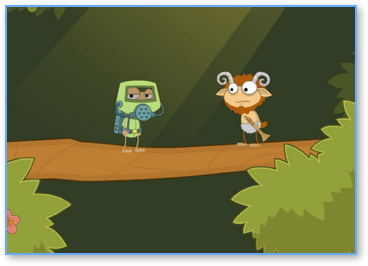Poptropica Hazmat Hermit and Friend