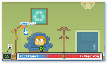 Poptropica Earth Day Energy Hog mini-quest