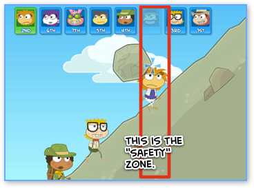 Poptropica Safety Zone in Mountain Race
