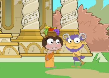 Poptropica Mythology Island - Talking to a Satyr