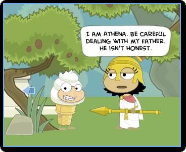 Athena in Mythology Island