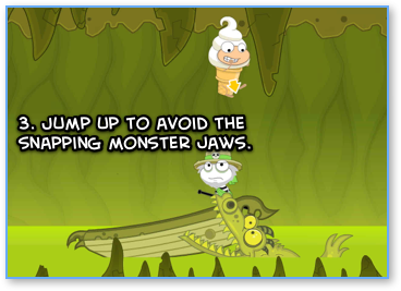 Poptropica River Styx snapping monster
