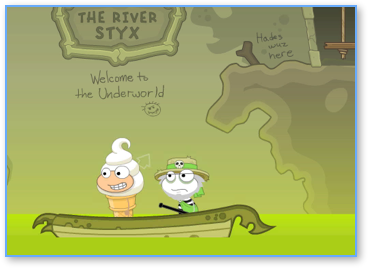 Crossing the River Styx in Poptropica Mythology Island