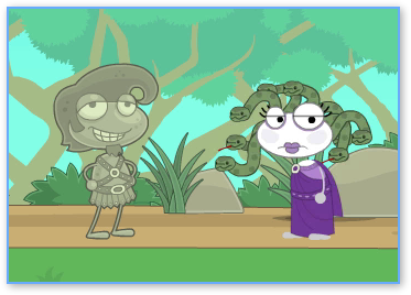 Hercules and the Medusa in Poptropica