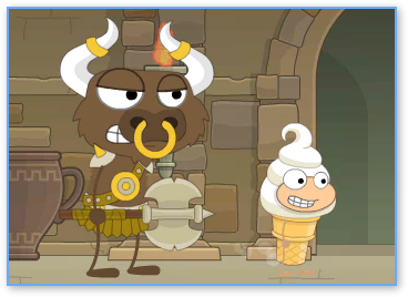 The Minotaur in Poptropica Mythology Island