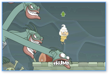 jumping on the hydra in Poptropica Mythology Island