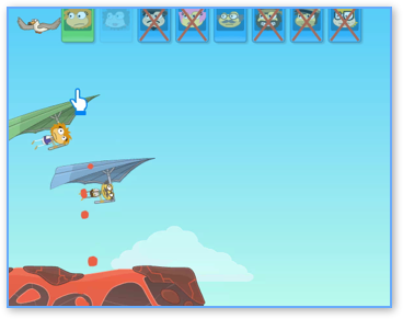 Poptropica Hang Glider Volcano and Bird
