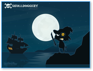 Skullduggery Island Wallpaper for Poptropica
