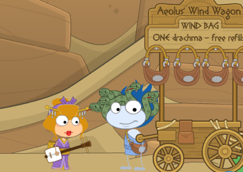 Aeolus in Poptropica with no beard