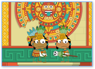Aztec Temple in Poptropica