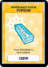 Poptropica Winter Blast Flavor Gum