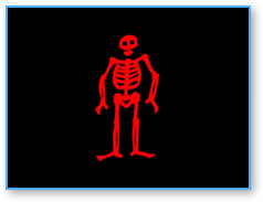 Edward Low's pirate flag