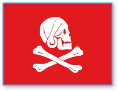 Henry Every's red pirate flag