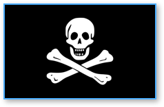 Poptropica Jolly Roger Flag with Skull and Crossbones
