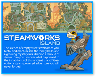 Poptropica Steamworks Island Promo