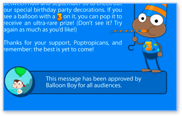 Approved by Balloon Boy