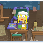Inside Mordred's Hideout in Poptropica Astro-Knights Island