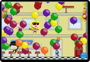 Poptropica Balloons inside the Soda Pop Shop