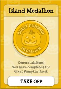 Great Pumpkin Medallion in Poptropica
