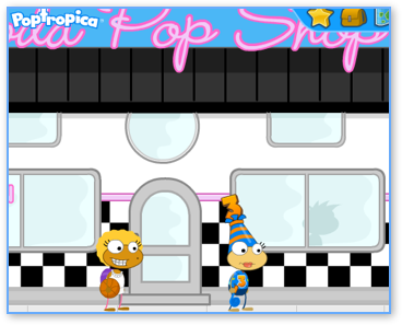 The Soda Pop Shop in Early Poptropica