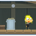 At the docks in Spy Island on Poptropica