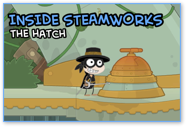 Hatch in Poptropica Steamworks Island