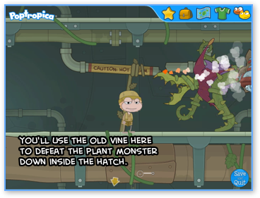 Using the Old Vine in Steamworks Island