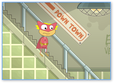 Inside the Subway in Super power Island