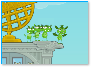 Poptropica Furry Monsters on Daily Paper Building