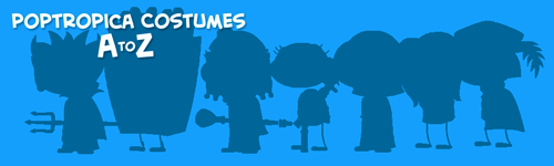 Poptropica Costumes A to Z