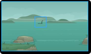 Spotting Nessie in Poptropica