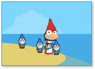 Poptropica Juliet with Gnomes