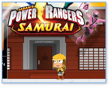 Poptopica Power Rangers Samurai Ad Walkthrough