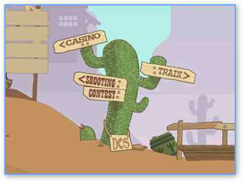 Poptropica Wild West Island Cactus Sign
