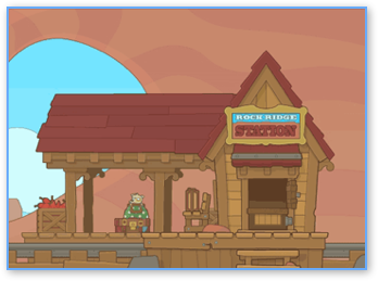 Poptropica Wild West Rock Ridge Station