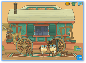 Poptropica Wild West Island Wagon with Pilots
