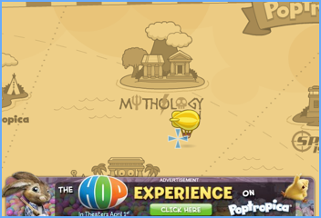 Poptropica Hop Ad on Map