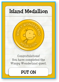 Poptropica Wimpy Wonderland Island Medallion