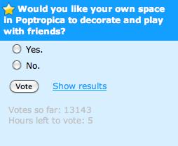 Poptropica Spaces Poll