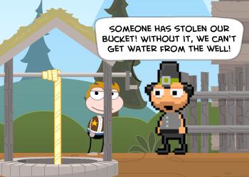 Poptropica Stolen Water Bucket