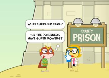 Antipower Handcuffs in Super Power Island