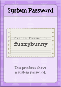 System Password in 24 Carrot Island