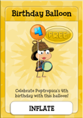 Poptropica 4th Birthday Balloon